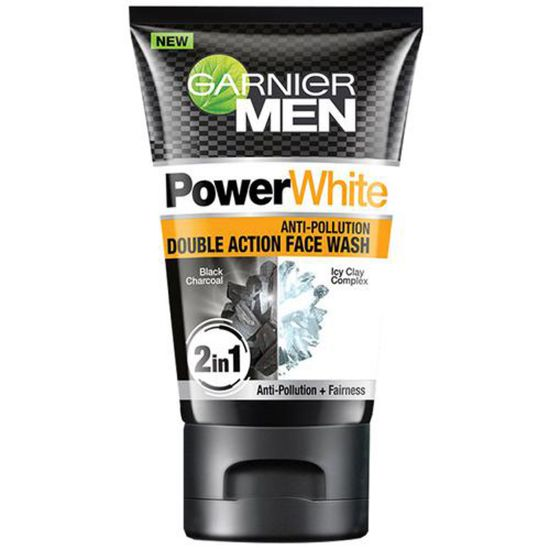 Picture of Garnier Men Power White Anti-Pollution Double Action Face Wash, 50 g