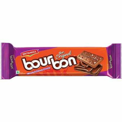 Picture of Britannia Bourbon Chocolate Cream Biscuits, 150 g