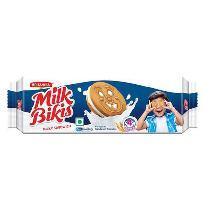 Picture of Britannia Milk Bikis Milk Cream Biscuits, 100 g