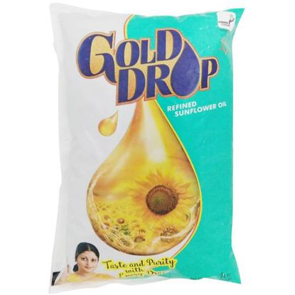 Picture of Gold Drop Refined Oil - Sunflower, 1 L Pouch