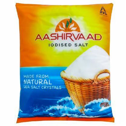 Picture of Aashirvaad Salt - Iodised, 1 kg Pouch