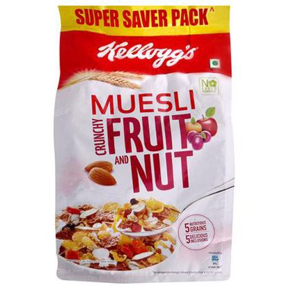 Picture of Kelloggs Muesli - With 21% Fruit & Nut, 500 g Pouch