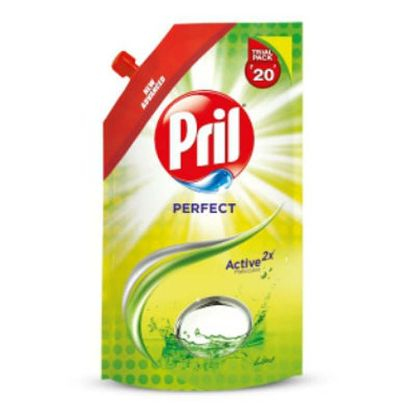 Picture of Pril Dishwash Liquid - Lime, 120 ml Pouch