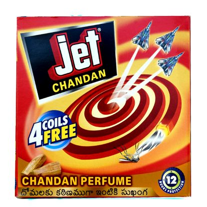 Picture of Jet Chandan Mosquito Coils, 10 Coils pack with 4 Coils Free