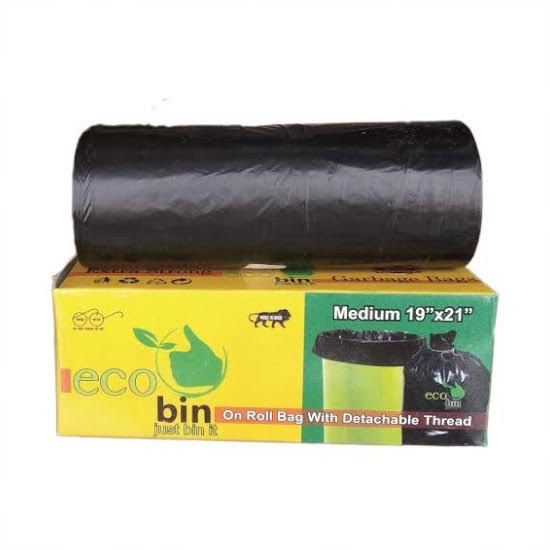 Picture of Eco bin Dustbin covers (Trash/Garbage Bags), Pack of 30 - Medium size