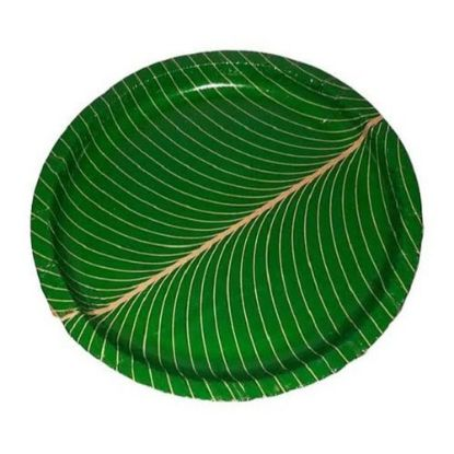 Picture of Disposed Vistharakulu (Green Buffet Plates), 12-14 Pcs