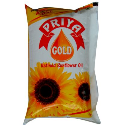 Picture of Priya Gold Refined Sunflower Oil , 1 L Pouch