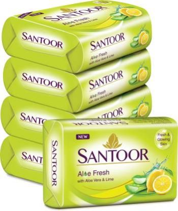 Picture of Santoor Aloe Fresh Soap with Aloe Vera and Lime,  100 g